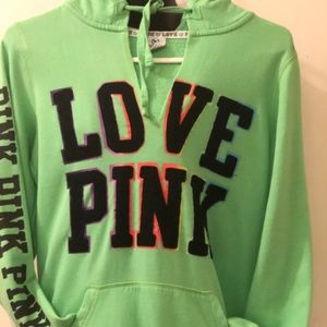 Love pink green sweater for girls